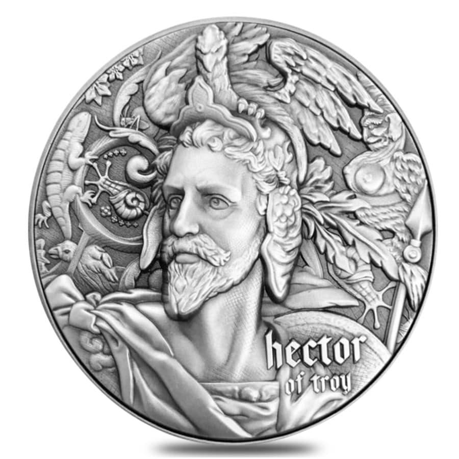 Antiqued High Relief Silver Coins