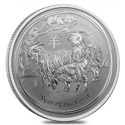 Lunar Year Of The Goat Silver Coins