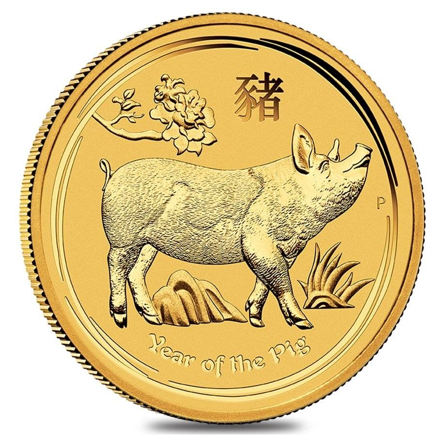 Lunar Year Of The Pig Gold Coins