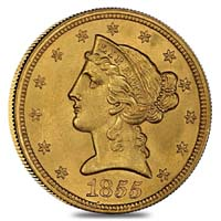 Gold Liberty Head