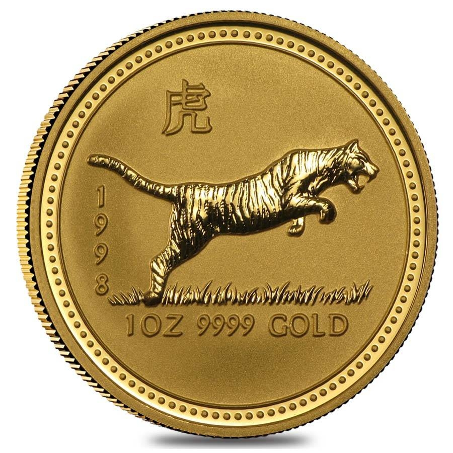 Lunar Year Of The Tiger Gold Coins