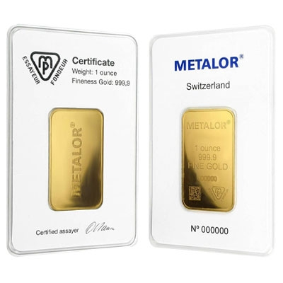 Metalor Gold Bars