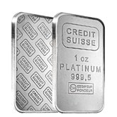 Credit Suisse Platinum Bars