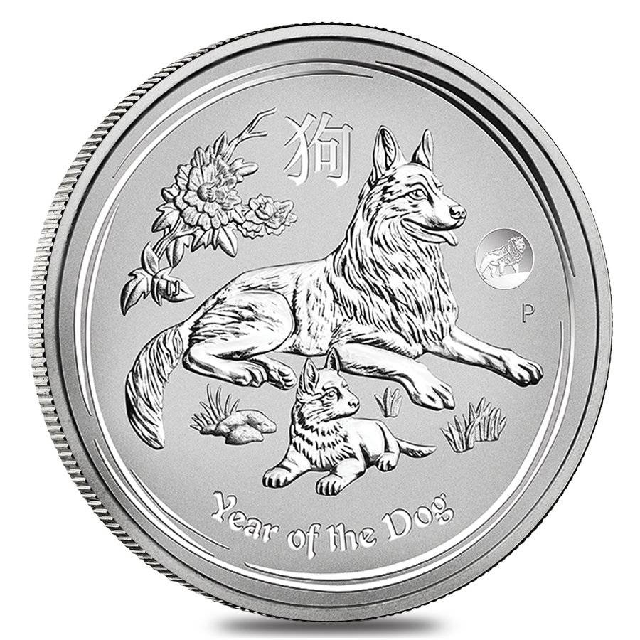 Lunar Year Of The Dog Silver Coins