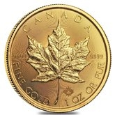 Gold Canadian Maple Leaf Coins