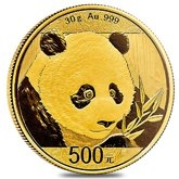 Gold Chinese Panda Coins