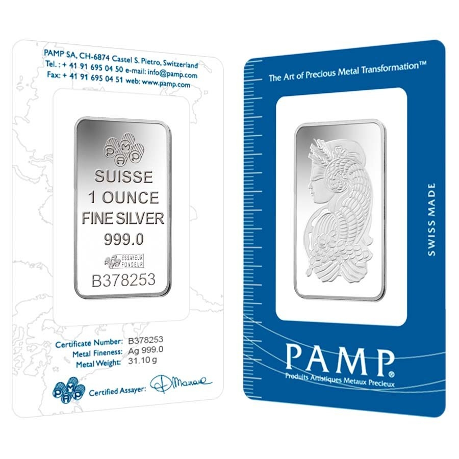 PAMP Suisse Silver Bars