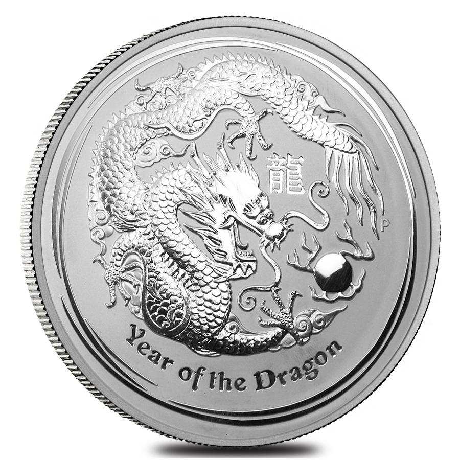 Lunar Year Of The Dragon Silver Coins