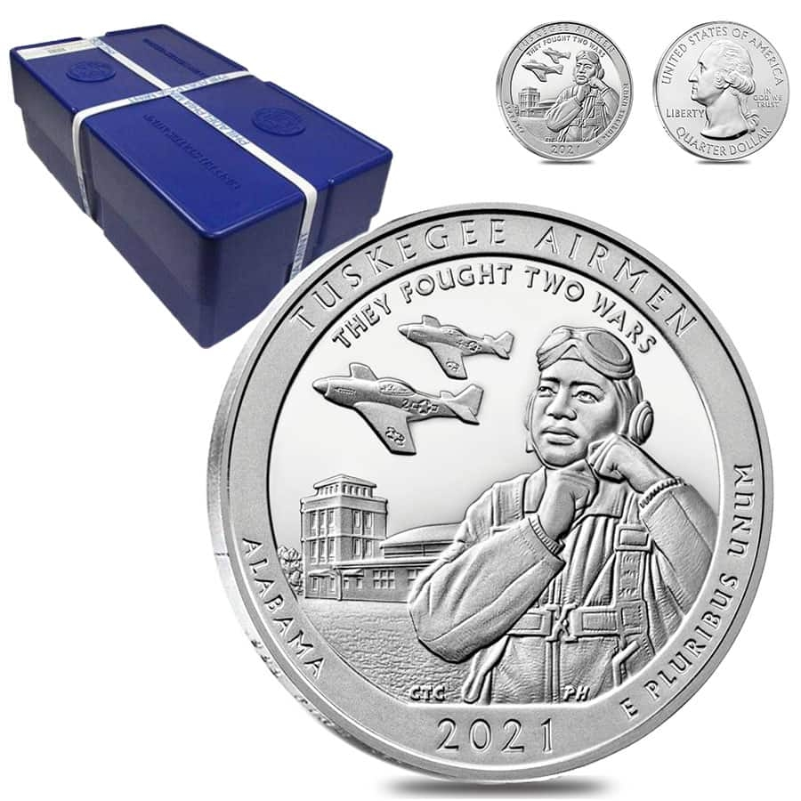 2021 5 oz Silver America the Beautiful ATB Alabama Tuskegee Airmen National Historic Site Coin