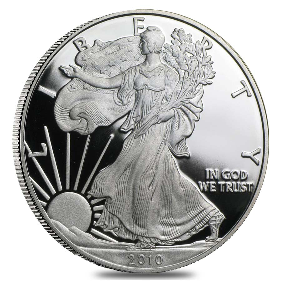 2010 W Proof Silver American Eagle with  box and COA OGP NO SPOTTING
