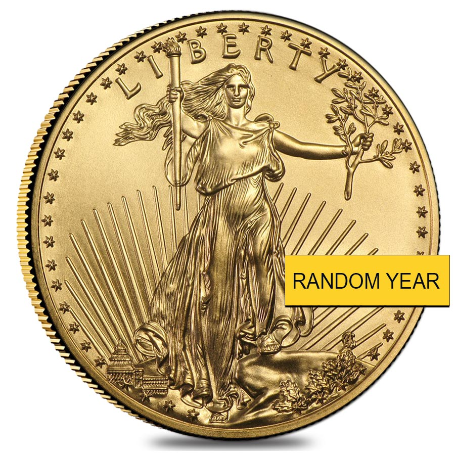 1 oz American Eagle $50 Gold Coin (Random Year)