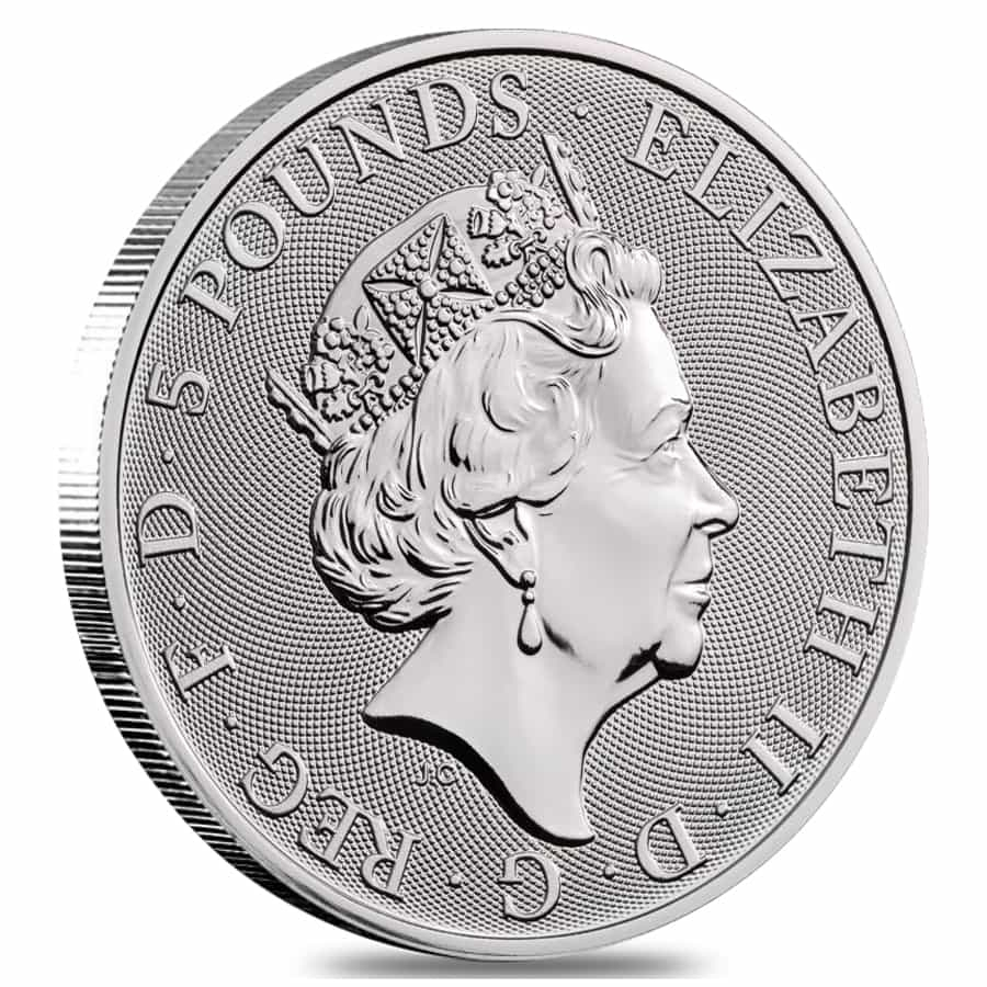 Roll Of 10 2019 Great Britain 2 Oz Silver Queen S Beasts
