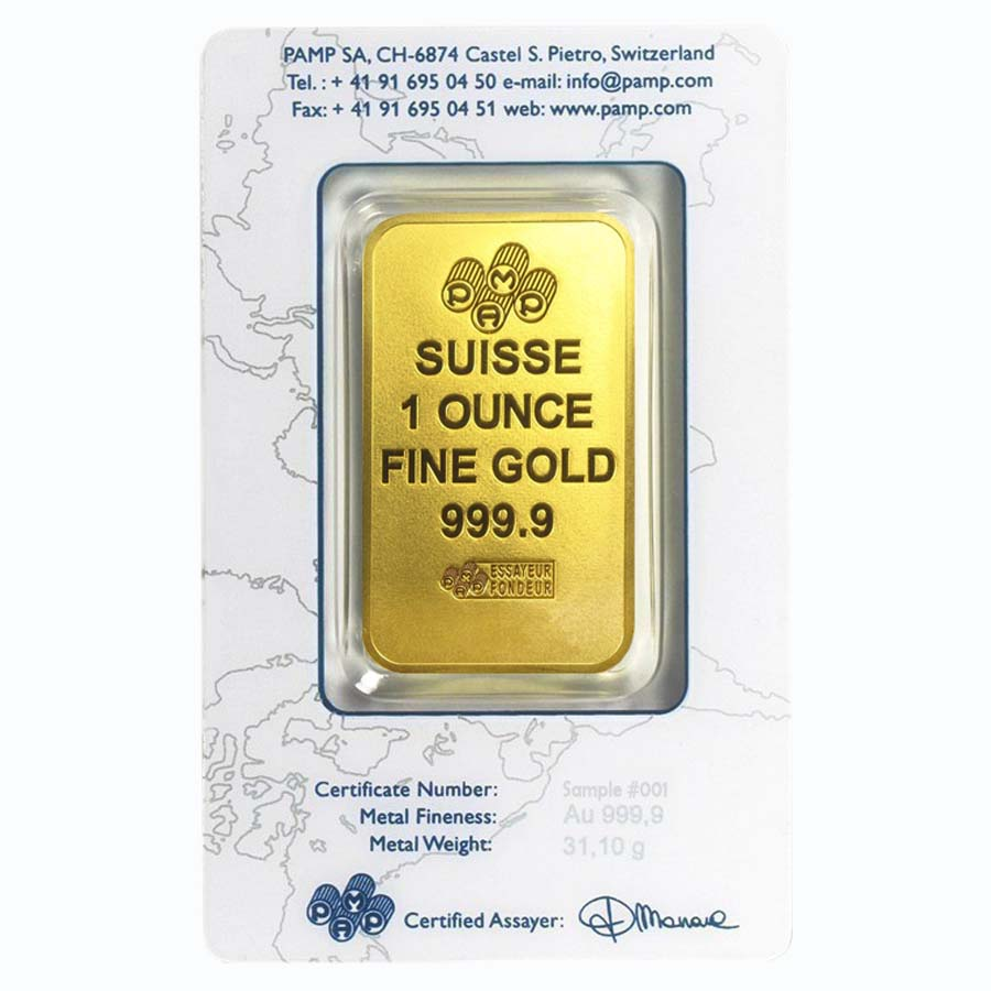 1 Oz Gold Bar Pamp Suisse New Design In Assay Ebay