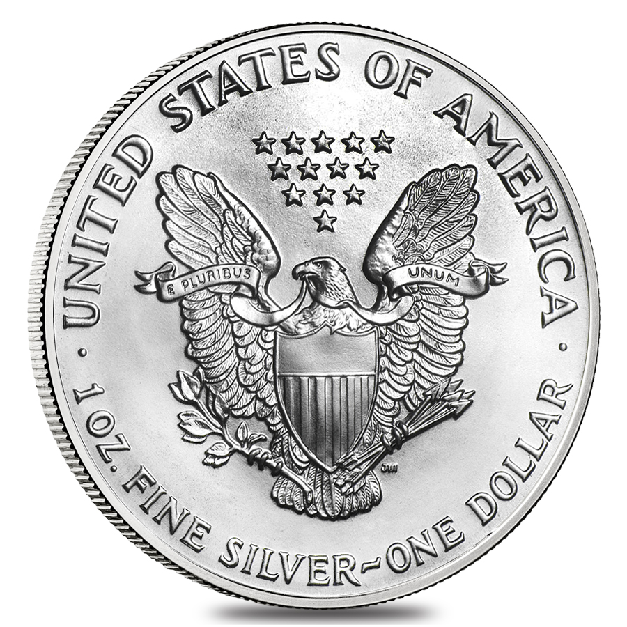 1990 $1 US American Silver Eagle UNC One Ounce FINE Silver Round Coin