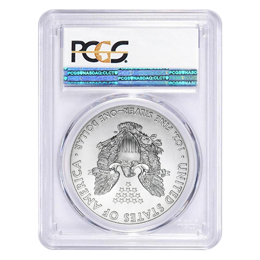 2018 (W) 1 oz Silver American Eagle $1 Coin PCGS MS 70 First Strike (West Point)