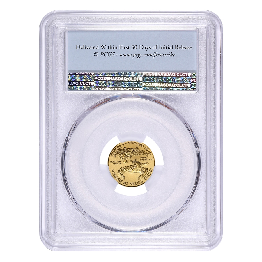 2018 1 10 Oz Gold American Eagle Pcgs Ms 69 First Strike