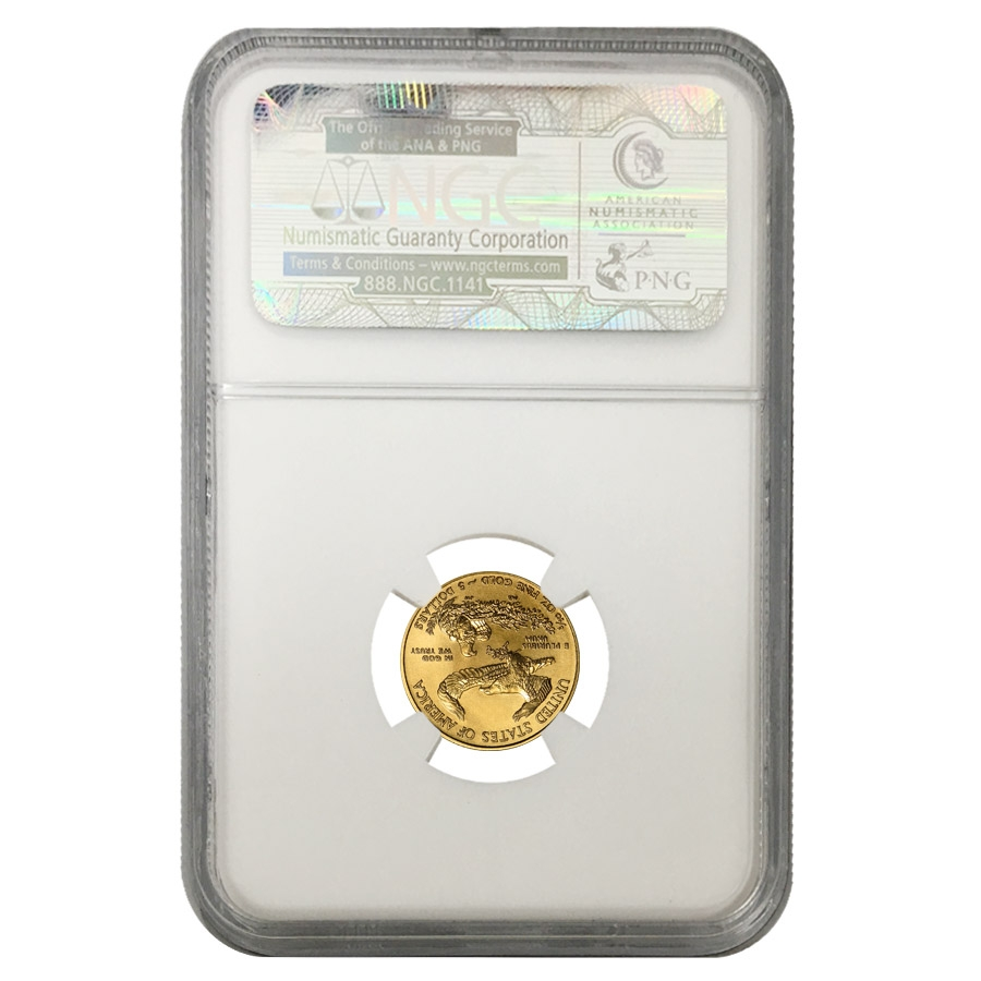2009 1 10 Oz 5 Gold American Eagle Ngc Ms 70 Early Releases