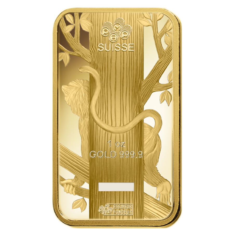 Lot Of 5 1 Oz Pamp Suisse Year Of The Monkey Gold Bar