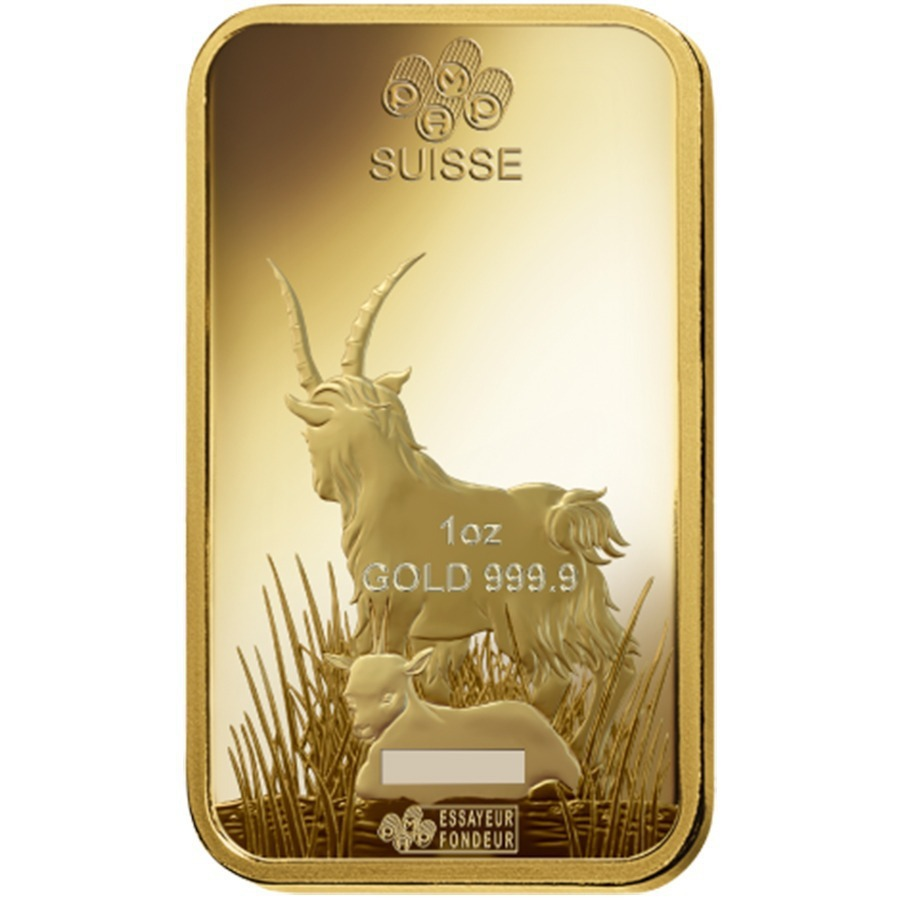 Box Of 25 1 Oz Pamp Suisse Year Of The Goat Gold Bar In