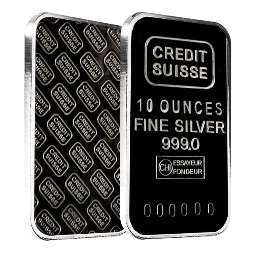 10 Oz Credit Suisse Silver Bar 999 Fine Secondary Market