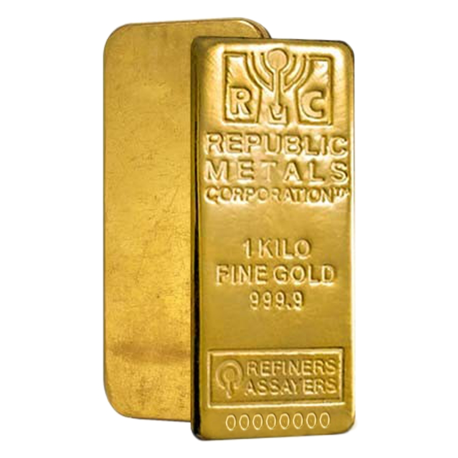 1 Kilo Republic Metals Rmc Gold Bar 9999 Fine W Assay