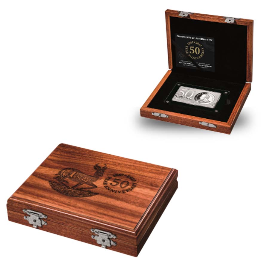 2017 south africa 3 oz silver 50th anniv of the krugerrand coin bar set w box ebay. Black Bedroom Furniture Sets. Home Design Ideas