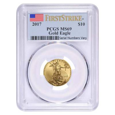 2017 1.85 oz Gold American Eagle 4-coin Set PCGS MS 69 First Strike