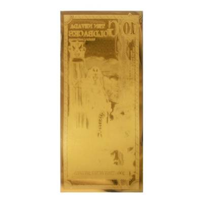 5 Nevada Goldbacks 1/200 oz 24K Gold Foil Aurum Note