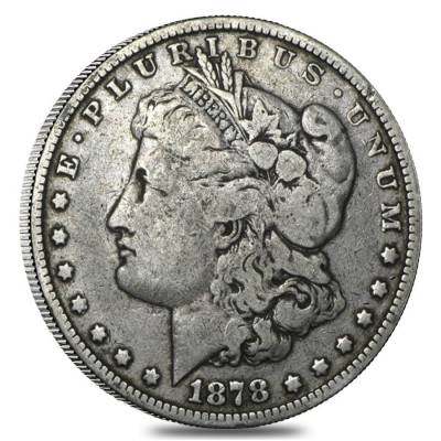 1878 Silver Morgan Dollar 8 Tailfeathers VG-VF