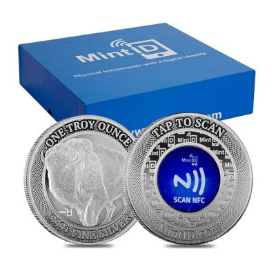 1 oz MintID Buffalo Silver Round .999+ Fine (NFC Scan Authentication)
