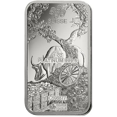 Box of 25 - 1 oz PAMP Suisse Year of the Ox Platinum Bar (In Assay)