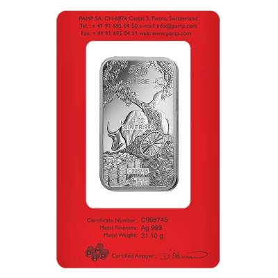 1 oz PAMP Suisse Year of the Ox Silver Bar (In Assay)