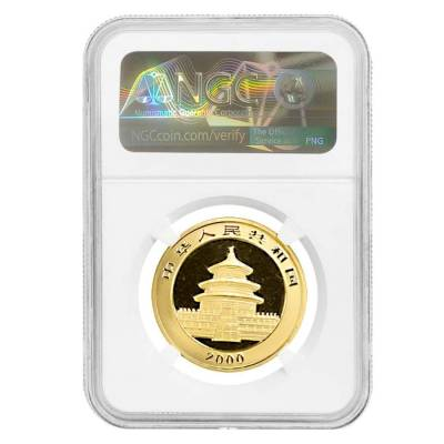 2000 1 oz Chinese Gold Panda 100 Yuan Frosted Ring NGC MS 68