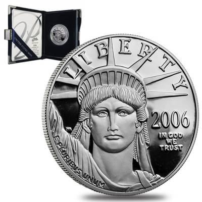 2006 W 1 oz $100 Platinum American Eagle Proof Coin (w/Box & COA)