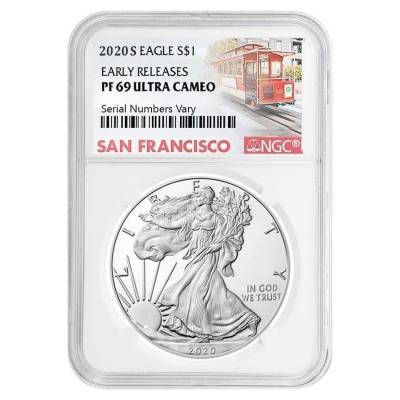 2020-S 1 oz Proof Silver American Eagle NGC PF 69 UCAM Early Releases (SF Label)
