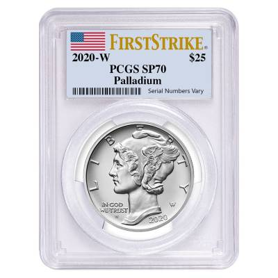 2020-W 1 oz Burnished Palladium American Eagle PCGS SP 70 FS