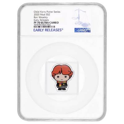 2020 1 oz Colorized Silver Harry Potter - Ron Weasley - Niue Chibi Coin Collection NGC PF 70 UCAM ER
