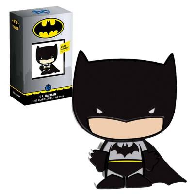 2020 1 oz Colorized Silver DC Comics - Batman - Niue Chibi Coin Collection $2 Coin (w/Box & COA)
