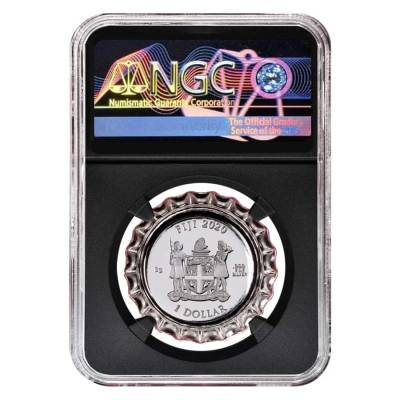 2020 6 gram Fiji Coca-Cola Russia Bottle Cap $1 Proof Silver Coin NGC PF 70 Early Releases (Retro)