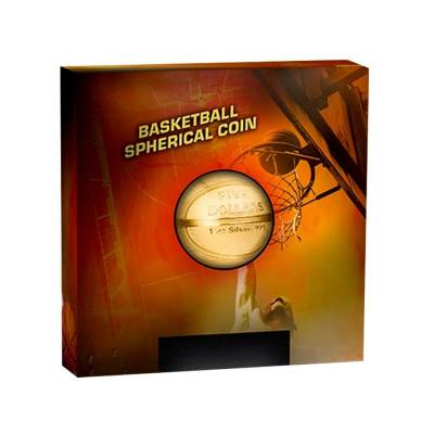 2020 1 oz Silver Basketball Spherical Coin Samoa .999 Fine (w/Box & COA)