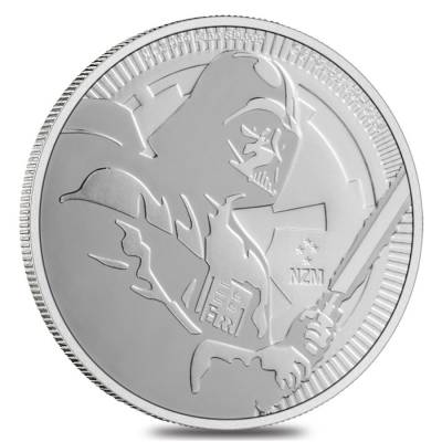 Lot of 2-2019 1 oz Niue Silver $2 Star Wars Darth Vader BU