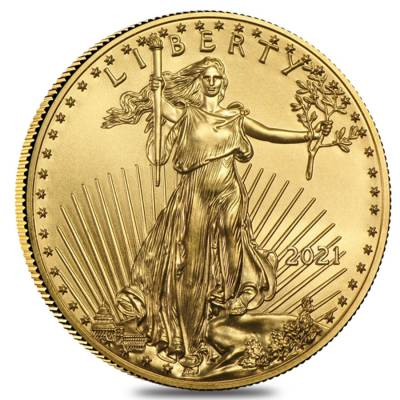 2021 1/10 oz Gold American Eagle $5 Coin BU
