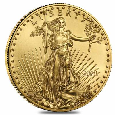 2021 1/2 oz Gold American Eagle $25 Coin BU