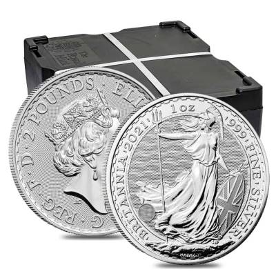 2021 Great Britain 1 oz Silver Britannia Coin .999 Fine BU