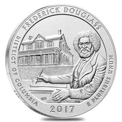 2017-P 5 oz Silver America the Beautiful ATB DC Frederick Douglass National Historic Site Unc Coin (w/Box & COA)