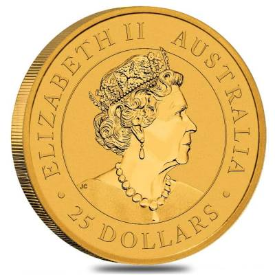 2021 1/4 oz Australian Gold Kangaroo Perth Mint Coin .9999 Fine BU In Cap
