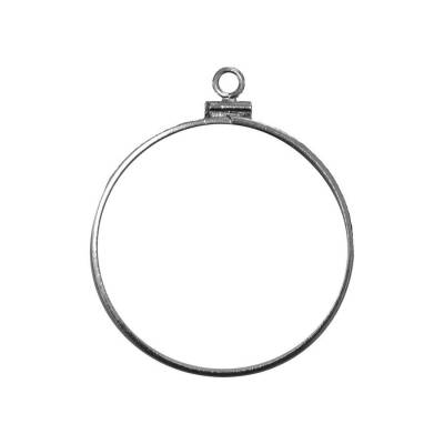 Sterling Silver 40.6 mm Coin Bezel Frame Mount for Silver Eagle Dollar Coin