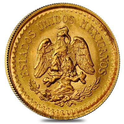 2.5 Pesos Mexican Gold Coin AGW .0603 oz AU/BU (Random Year)