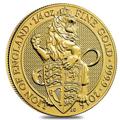 2016 Great Britain 1/4 oz Gold Queen's Beasts (Lion) Coin .9999 Fine BU