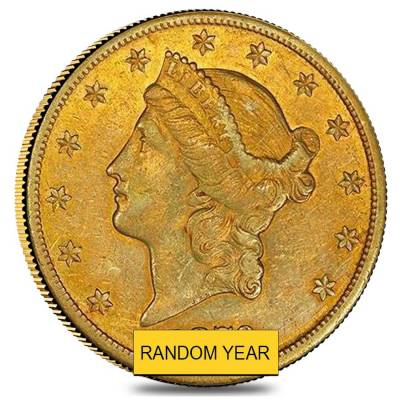 $20 Gold Double Eagle Liberty Head - Very Fine VF (Random Year)